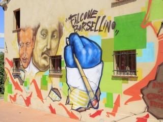 Murales al CAG di Senigallia intitolato Giovanni Falcone e Paolo Borsellino