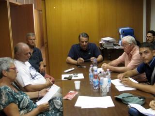 Il Presidente della Fondazione Città di Senigallia Michelangelo Guzzonato ed alcuni membri del Cda