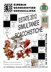 Simultanee scacchistiche 2012 a Senigallia