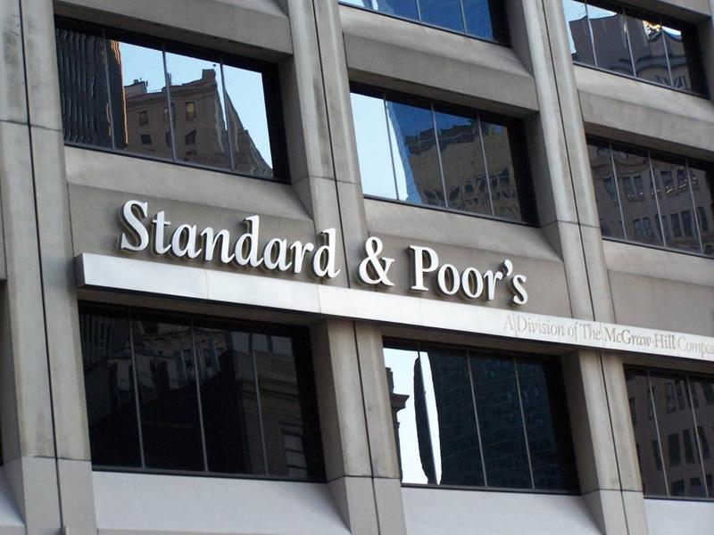 La facciata dell'edificio dell'agenzia di rating Standard & Poor's