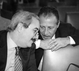 Paolo Borsellino insieme a Giovanni Falcone