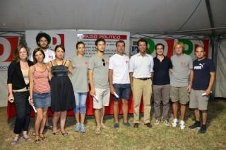 I corsisti dei Giovani Democratici di Senigallia: Micol Mattei è la seconda da sinistra