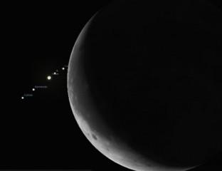 Occultamento di Giove da parte della Luna