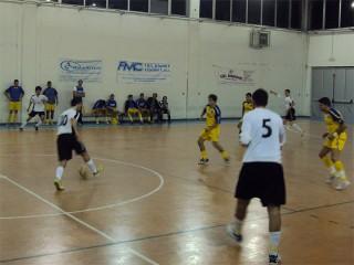 Il Corinaldo C5 in un match contro il Bocastrum