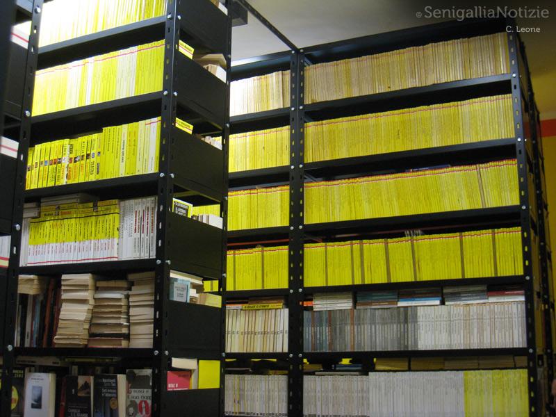 """La collezione di libri nella famosa """"Camera Gialla"""" della Fondazione Rosellini"""