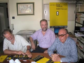 L'assessore Stefano Schiavoni con Fabio Manini e Adriano Rosellini