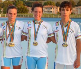 I giovani campioni del Team Roller Senigallia