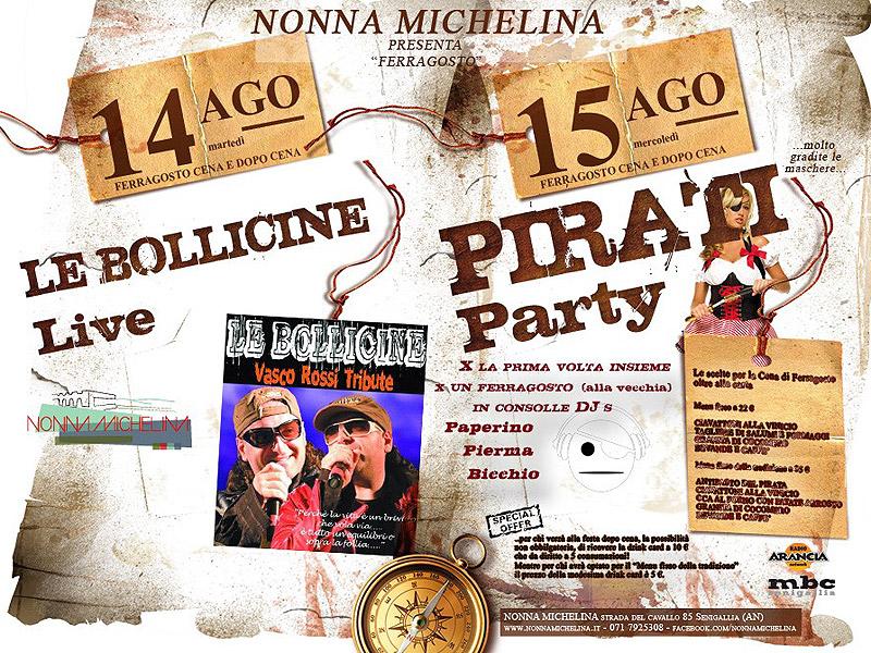 Serate del 14 e 15 agosto da Nonna Michelina a Senigallia