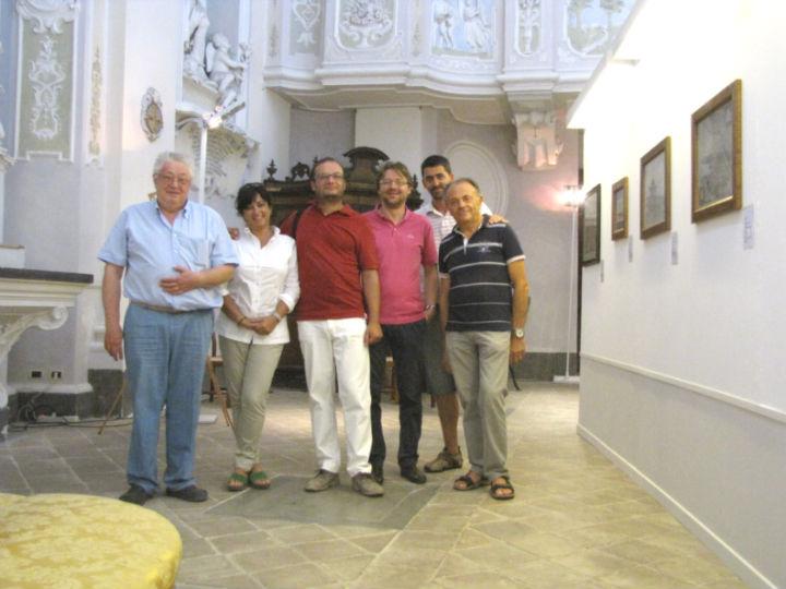 Gli organizzatori della mostra di Arcevia