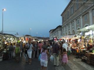 La Fiera di Sant'Agostino 2012 a Senigallia, via Portici Ercolani