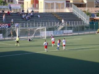 Il rigore del 3-0 della Vigor Senigallia contro il Pagliare