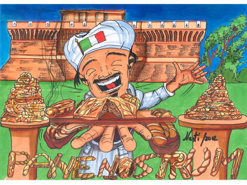 La vignetta di Massimo Nesti dedicata a Pane Nostrum 2012