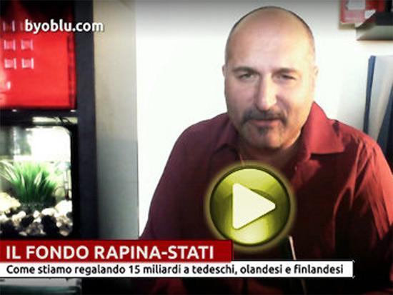 Il blogger Claudio Messora in un video su Byoblu.com