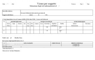 A senigallia da ottobre verranno reintrodotti i tributi for Visura catastale per soggetto gratis