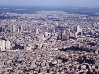 Veduta di Damasco, capitale della Siria