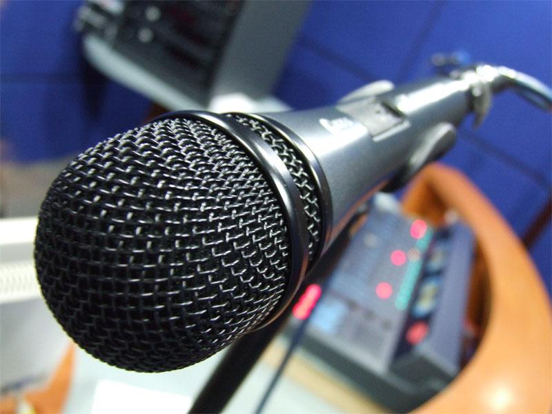 Microfono in uno studio di registrazione