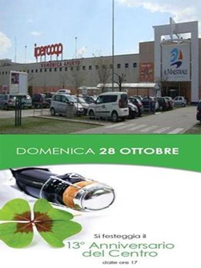 Locandina 13° anniversario del Centro Commerciale Il Maestrale