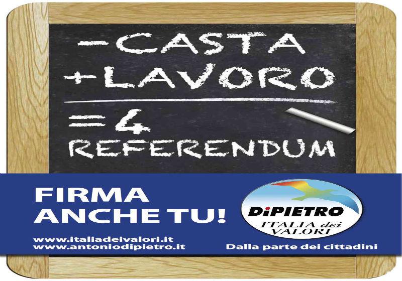 Il referendum dell'Idv