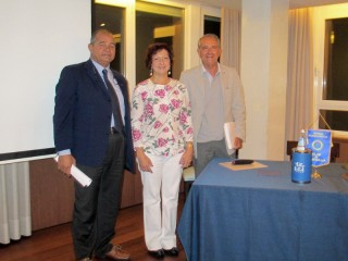 Incontro del Rotary club con la presidente dell'Aibor Rosalba Amato