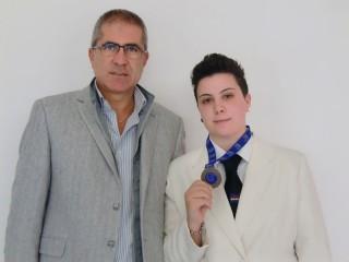 Valentina Santilli con il bronzo al collo