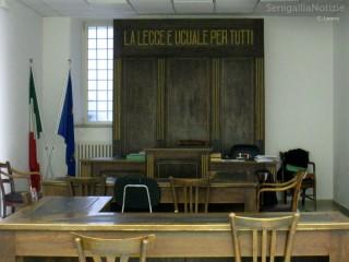 Aula del tribunale di Senigallia