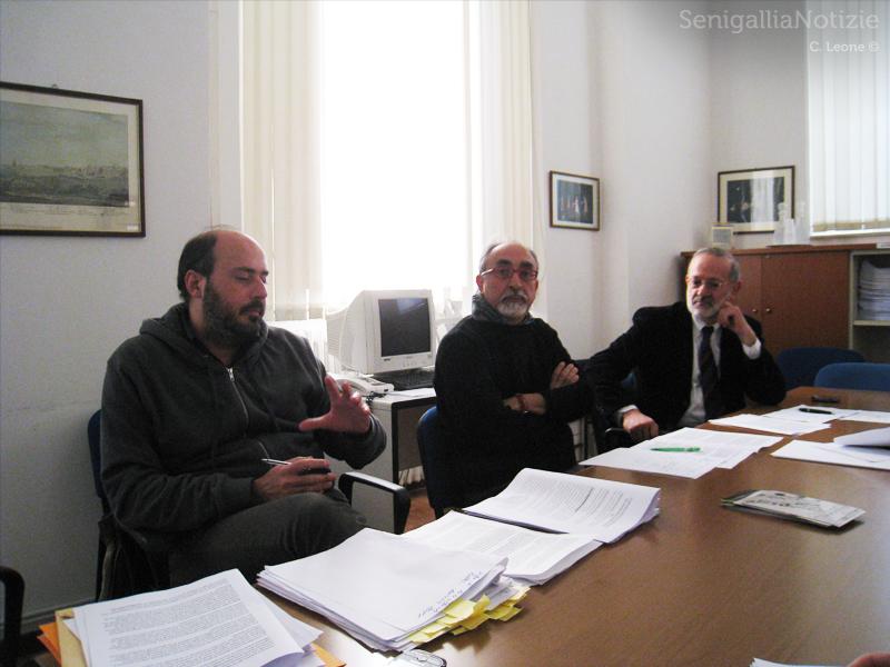 I consiglieri Paolo Battisti, Luigi Rebecchini e Roberto Mancini