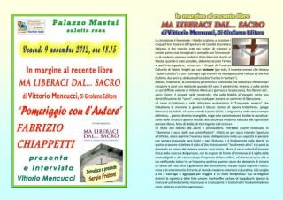 Manifesto dell'incontro con Vittorio Mencucci