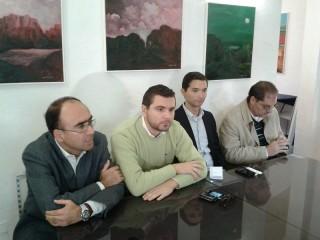 PPE per Senigallia: da sx Cameruccio, Cicconi Massi, Rimini e Mazzarini