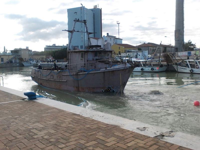 La prima nave in acqua