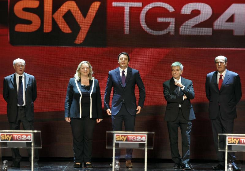 I candidati alle primarie del centrosinistra nella puntata su SkyTg24