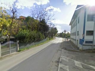 Via Cellini a Senigallia, vista da nord: tratto compreso tra via Berardinelli e via U.Giordano