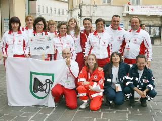 La squadra della CRI di Senigallia