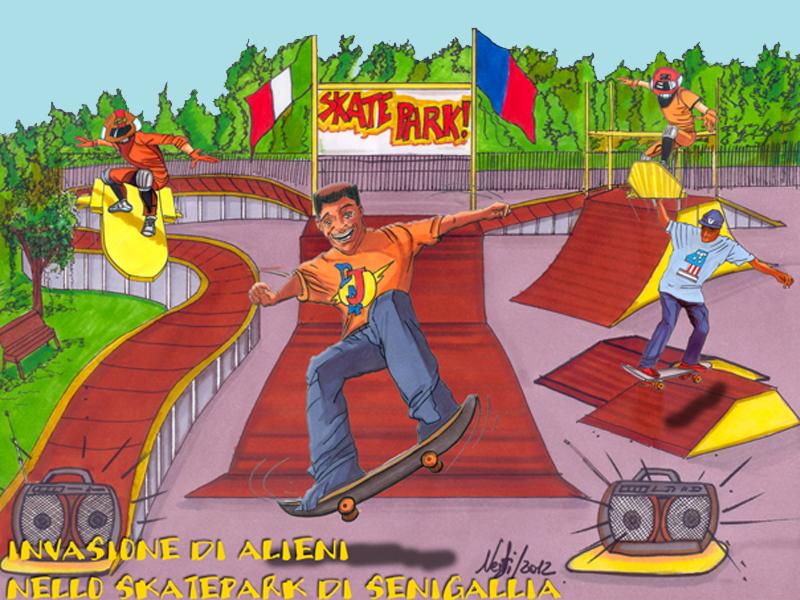 Lo skate park di Senigallia visto da Massimo Nesti