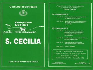Concerto Complesso musicale Città di Senigallia per Santa Cecilia, invito