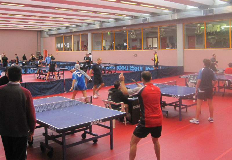 Un'immagine dell'interno del Centro Olimpico tennistavolo di Senigallia