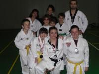 Il gruppo taekwondo di Senigallia che ha partecipato ai campionati