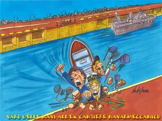 Il varo dei pescherecci all'ex-Navalmeccanico di Senigallia, secondo Massimo Nesti