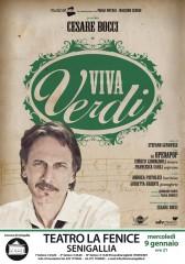 """Locandina dello spettacolo """"Viva Verdi"""" con Cesare Bocci alla Fenice di Senigallia"""
