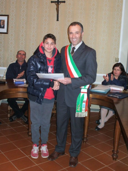 Riccardo Guiducci e il sindaco di Castelleone di Suasa Giovanni Biagetti