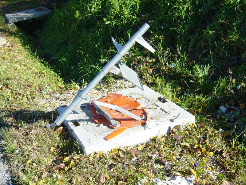 L'autovelox distrutto a Corinaldo, in via Madonna del Piano