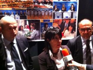 Giovanni Zinni, Roberta Angelilli e Massimo Bello a Bruxelles