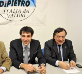 Il vicesegretario provinciale Andrea Filippini con il deputato IdV Leoluca Orlando