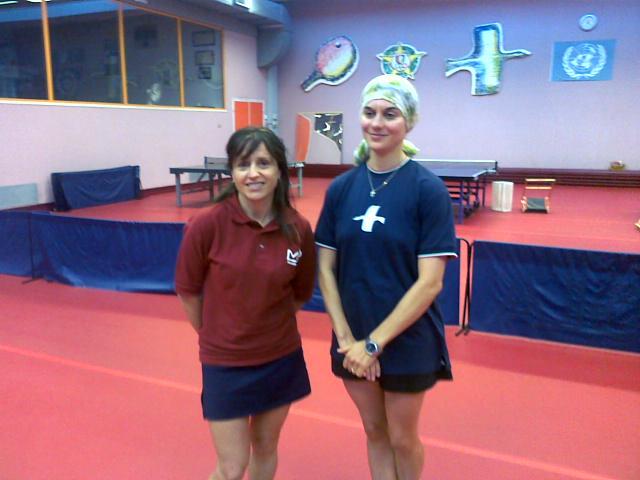Angela Conti e Ilaria Pullè del Tennistavolo Senigallia