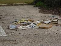 Il parcheggio dei rifiuti, al Cimitero delle Grazie di Senigallia