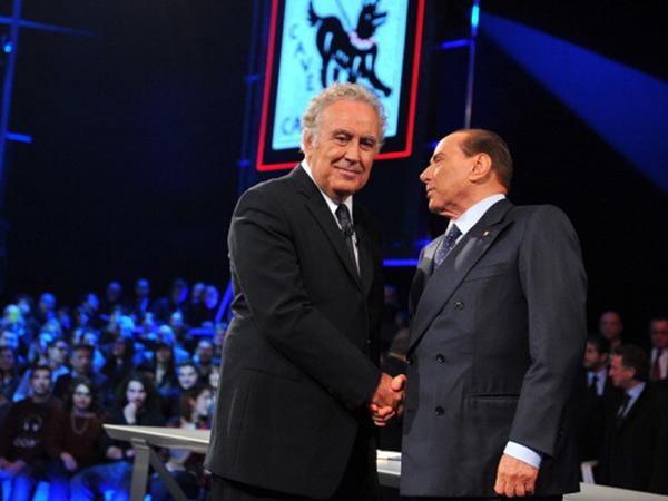 """Michele Santoro e Silvio Berlusconi a """"Servizio Pubblico"""" su La7"""