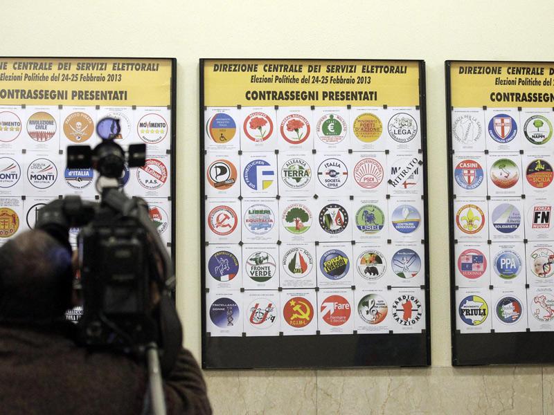 Simboli in corsa per le elezioni politiche 2013