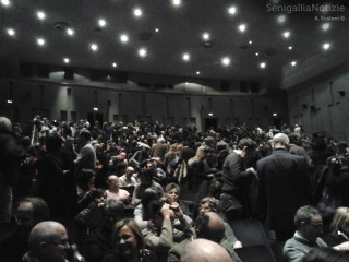 Il pubblico del teatro La Fenice per Marco Paolini