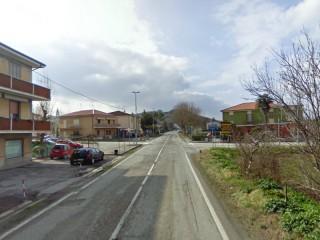 L'incrocio al Vallone di Senigallia tra la provinciale Arceviese e strada della Chiusa