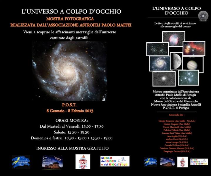 Mostra della N.A.S.A a Perugia dall'8 gennaio all'8 febbraio 2013