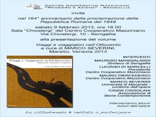 """Manifesto/Invito alla presentazione del libro """"Viaggi e viaggiatori nell'Ottocento"""""""